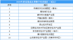 2020年度山东省级成长型数字经济园区(试点)建设清单出炉(附全名单)