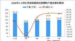 2020年1-6月江苏省初级形态的塑料产量为516.17万吨 同比增长9.14%