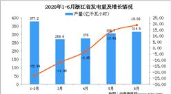 2020年6月浙江省发电量及增长情况分析