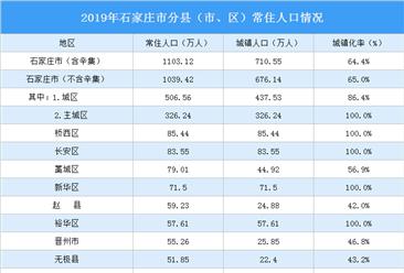 2019年石家庄各县(市、区)人口数据分析:桥西区人口最多(图)