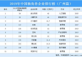 2019年中国独角兽企业排行榜(广州篇)