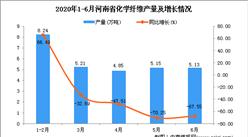 2020年6月河南省化学纤维产量及增长情况分析