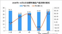 2020年1-6月山东省塑料制品产量为137.39万吨 同比增长34.18%