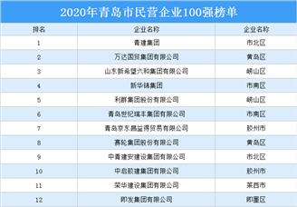 2020年青岛市民营企业100强排行榜