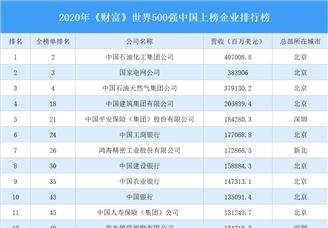 2020年《财富》世界500强中国上榜企业排行榜