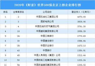2020年《财富》世界500强北京上榜企业排行榜