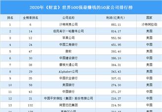 2020年《财富》世界500强最赚钱的50家公司排行榜