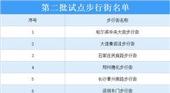 第二批试点步行街名单出炉:厦门中山路步行街等12条步行街上榜(附详细名单)