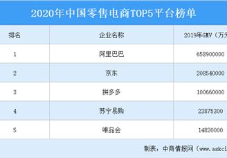 2020年中国零售电商平台TOP5排行榜