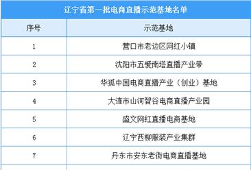 辽宁省第一批电商直播示范基地名单出炉:13家基地入选(附名单)