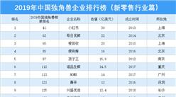 2019年中國獨角獸企業排行榜(新零售行業篇)