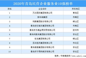 2020年青岛民营企业服务业10强排行榜