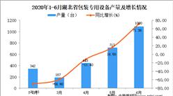 2020年1-6月湖北省包装专用设备产量同比下降17.05%