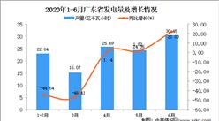 2020年6月广东省发电量及增长情况分析