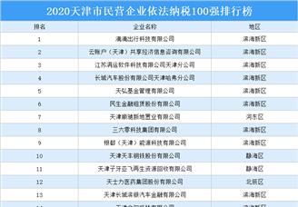 2020天津市民营企业依法纳税百强排行榜