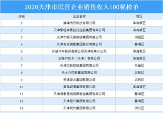 2020天津市民营企业销售收入百强排行榜