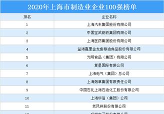 2020年上海市制造业企业100强排行榜