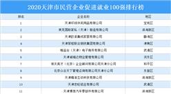 2020年天津市民營企業促進就業100強排行榜