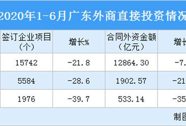 2020年1-6月广东外商直接投资情况分析(图)