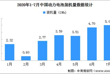 2020年7月动力电池装机量分析:三元电池装车3.3GWh 增长57.1%(图)