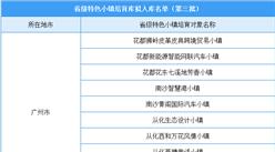 广东第三批省级特色小镇培育库拟入库名单出炉:34个小镇入选(附名单)