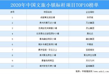 2020年中国文旅小镇标杆项目TOP10榜单出炉:成都黄龙溪古镇等项目上榜(附榜单)