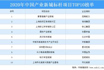 2020年中国产业新城标杆项目TOP10排行榜