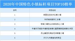2020年中国特色小镇标杆项目TOP10榜单出炉:阿里巴巴杭州云栖小镇上榜(附名单)
