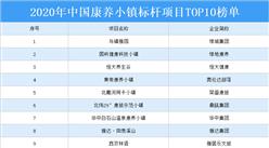 2020中国康养小镇标杆项目TOP10榜单出炉:恒大养生谷项目上榜(附详细名单)