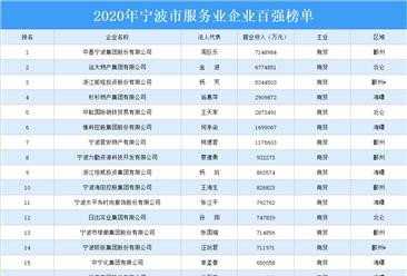 2020年宁波市服务业企业百强排行榜