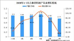 2020年7月吉林省铝材产量数据统计分析
