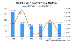 2020年7月吉林省生铁产量数据统计分析
