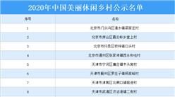 2020年中国美丽休闲乡村公示名单出炉:共248个村庄上榜(附详细名单)