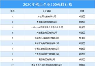 2020年佛山企业百强排行榜