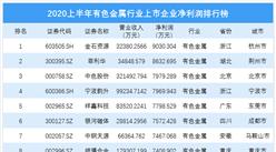 2020上半年有色金属行业上市企业净利润排行榜 TOP100