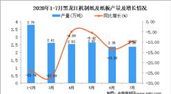 2020年7月黑龍江機制紙及紙板產量數據統計分析