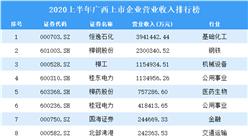 2020上半年广西上市企业30强排行榜