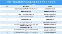 2020年湖南省軟件和信息技術服務業優秀解決方案公示名單:共34個方案上榜