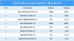 2020年重庆市100户成长型工业企业名单出炉(附完整名单)