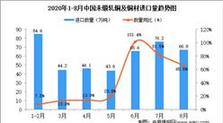 2020年8月中国未锻轧铜及铜材进口数据统计分析