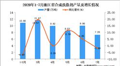 2020年7月浙江省合成洗涤剂产量数据统计分析