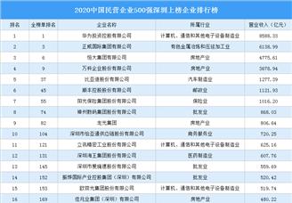 2020中国民营企业500强深圳上榜企业排行榜(附榜单)