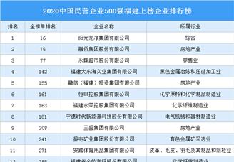 2020中国民营企业500强福建上榜企业排行榜(附榜单)