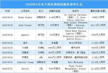 2020年8月电子商务领域投融资情况分析:战略领域投融资事件最多(附完整名单)