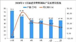 2020年7月福建省塑料制品产量数据统计分析