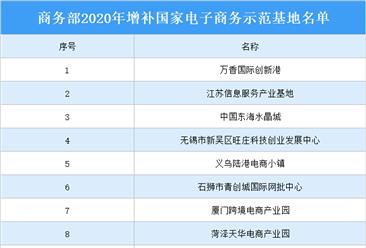 2020年增补国家电子商务示范基地名单出炉:共15个基地上榜(附详细名单)