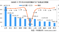 2020年上半年长江经济带11省市经济PK:湖北上海GDP增速负增长(图)