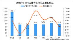 2020年8月吉林省发电量数据统计分析