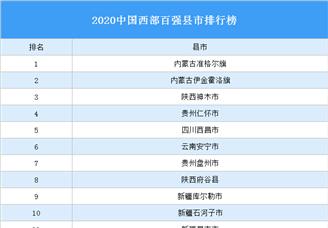 2020中国西部百强县市排行榜(附完整榜单)