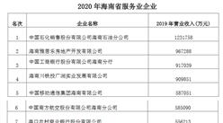 2020年海南省服务业企业排行榜